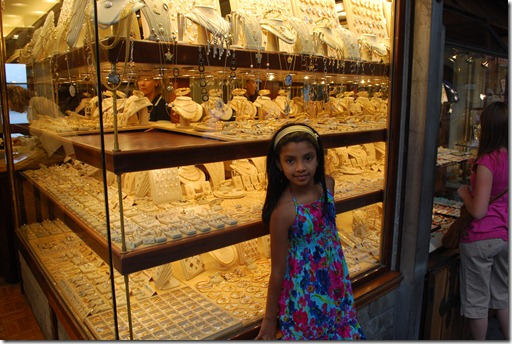 Gold shops on Ponte Vecchio