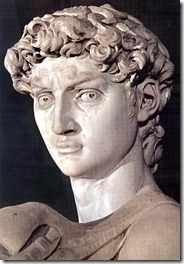 David's head detail