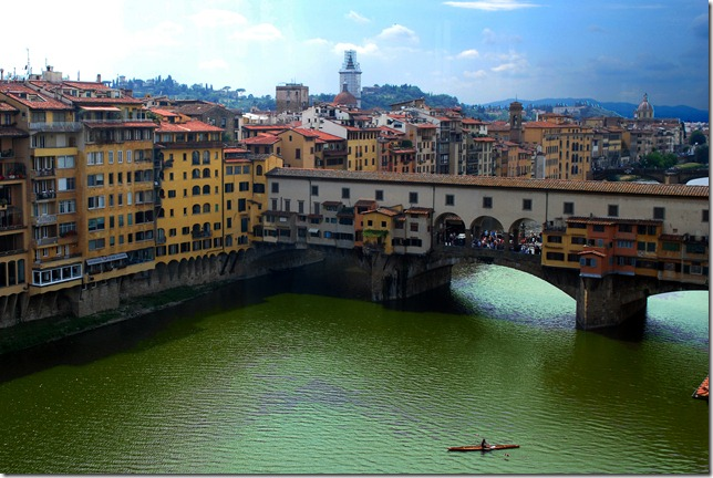 A view of Ponte Vecchio over River Arnoe
