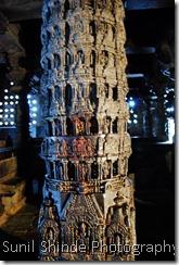 Narashimha pillar in the Chennakeshava Temple, Belur
