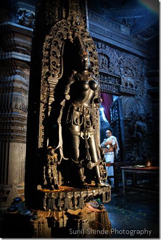 The innner sanctum of the Chennakeshava Temple, Belur