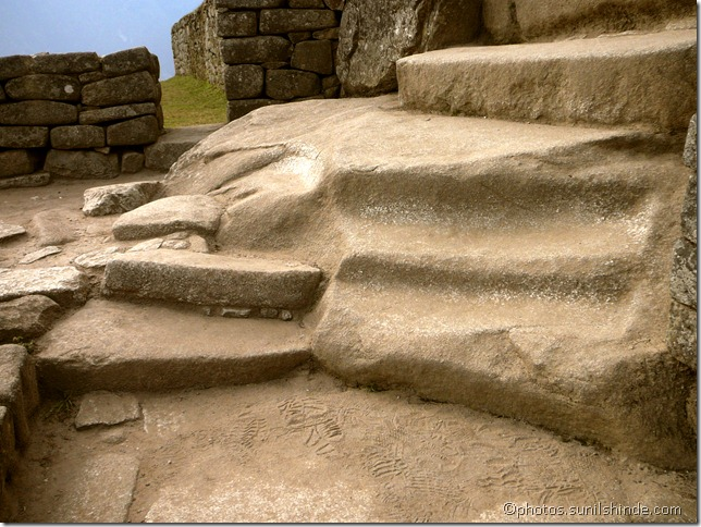 Steps leading to Intihuatana, Machu Picchu