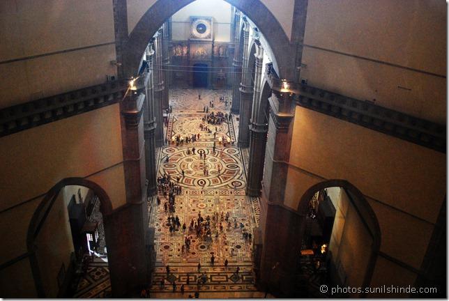 Inside the Duomo of Basilica di Santa Maria del Fiore