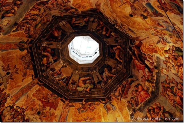 Vasari's frescoes on the Cupola
