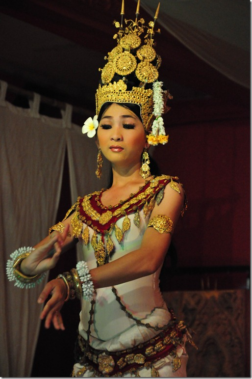 The leading lady of the Apsara dance