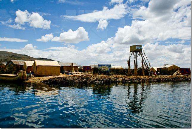 Uros Island on Lake Titicaca