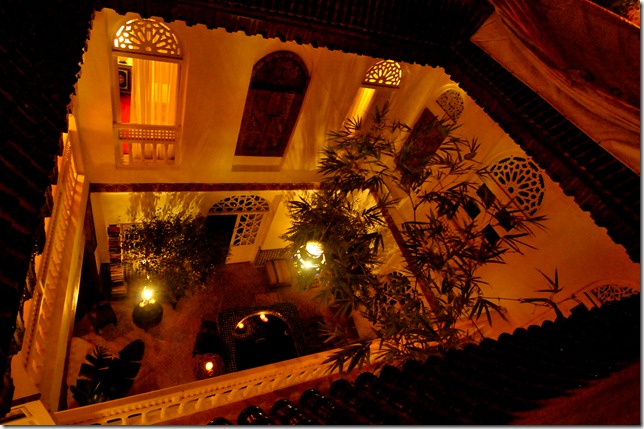 A view of the riad from the terrace