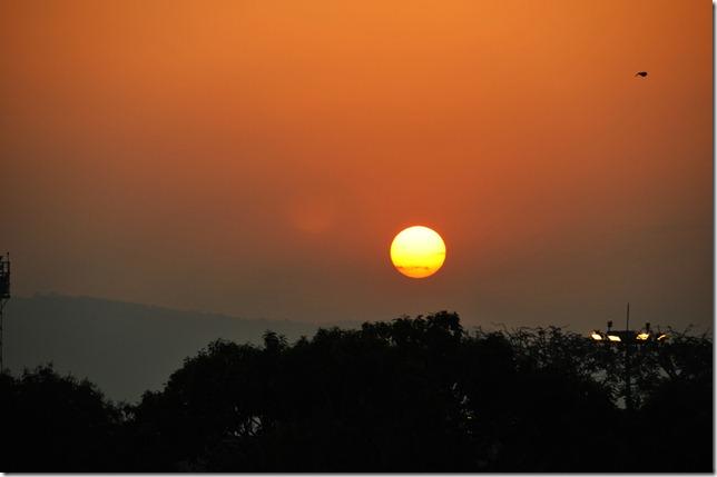 Sunrise over the Mumbai airport
