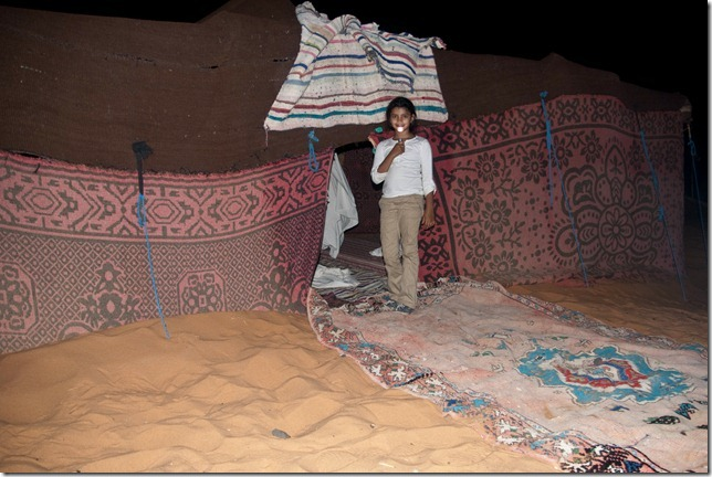 Rhea in front of our Berber tent
