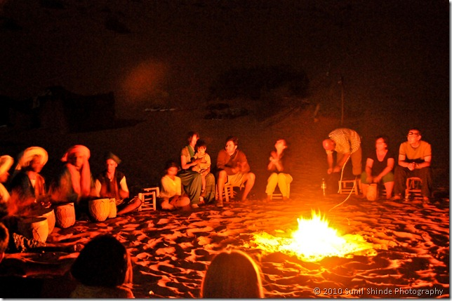 Our campfire in Sahara