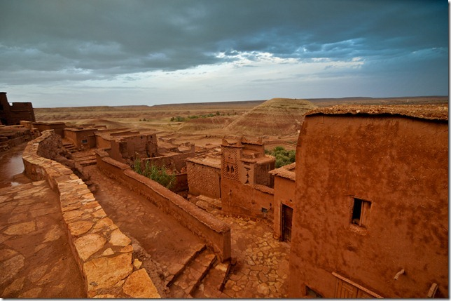Rooftop view of Ait Benhaddou