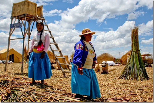 The tribal people of Uros