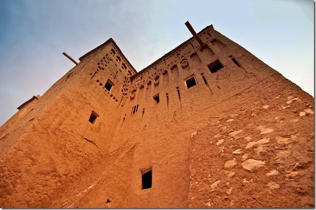 A watch tower in Ait Benhaddou