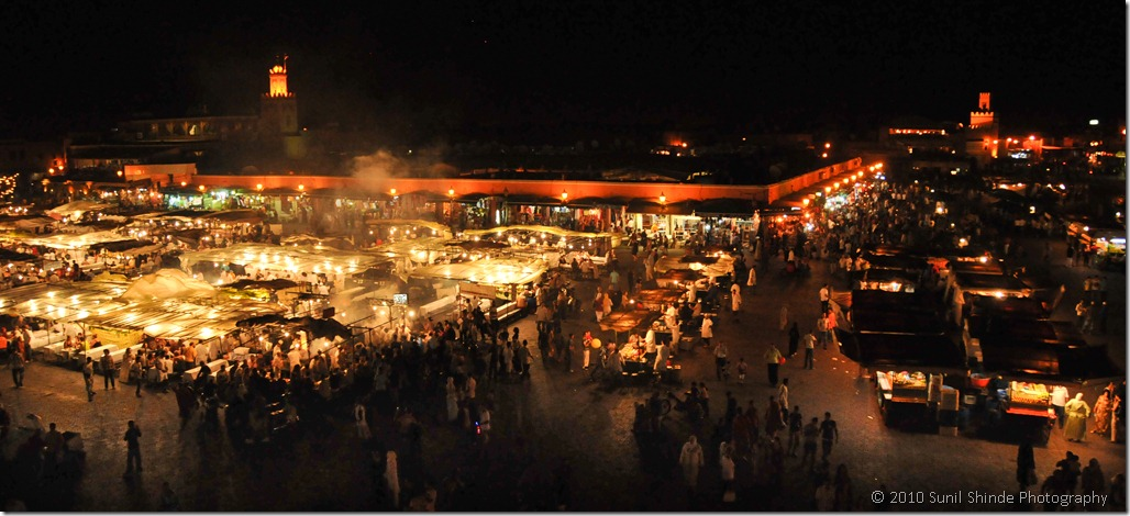 Djemma El Fna at night