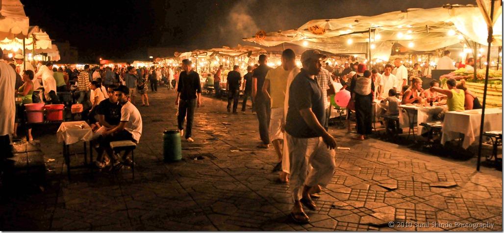 The foodstalls of Djemma el Fna