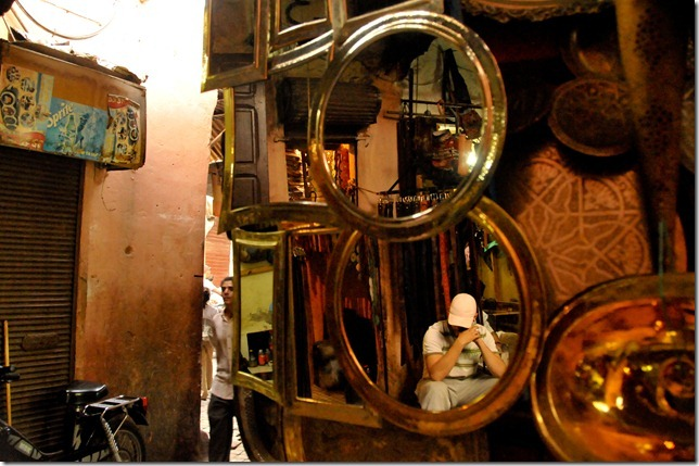 Dainty copper plates and a shy Moroccan shopkeeper