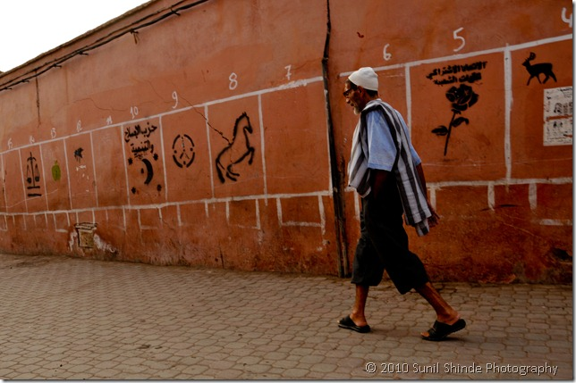Walking in Marrakech