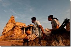 A couple at Brihadeshwara