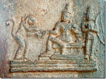 Scene from Ramayana, Vitthala temple, Hampi