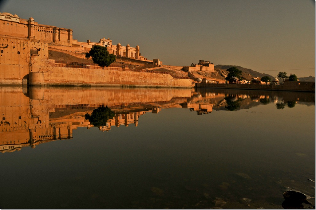 Amber Fort Reflection at sunrise