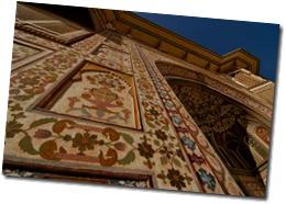 Ambert Fort Main entrance fresco