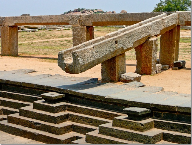 The branck that helped discover Pushkarni in 1981, Hampi