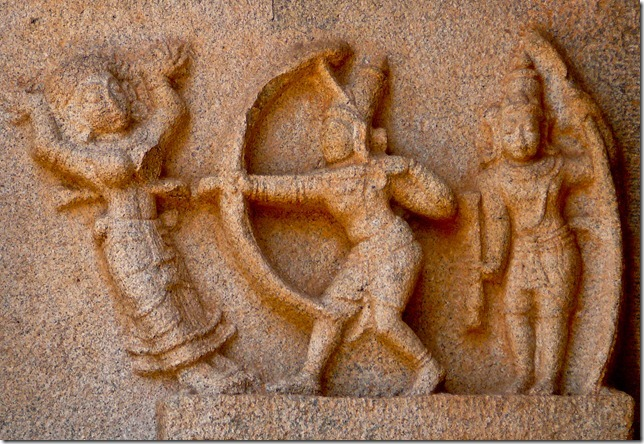 Ram killing Bali, Hazarirama Temple, Hampi