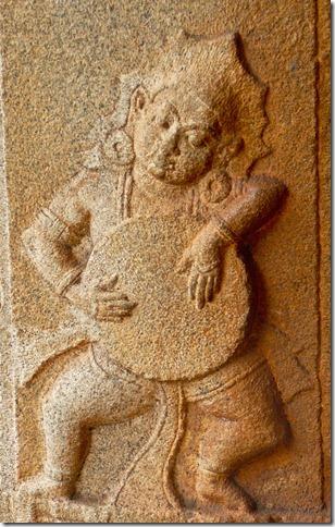 A musician, Vitthala temple, Hampi