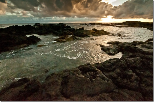 Sunrise at Richardsons Beach, Hilo
