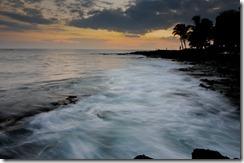 A swirling sunset at Kona