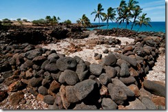 300 to 600 year old ruins of a fishing village at the Lapakahi State Historical Park