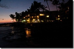 Our hotel - Aston Kona by the sea - at night