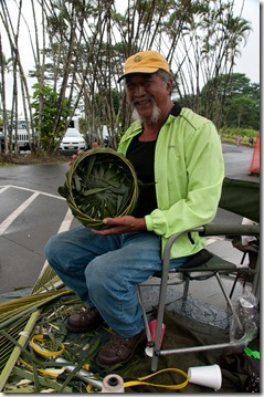 Hale, the basket weaver at Akaka Falls, Hilo