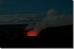 The smouldering mouth of Kilauea, Volcano National Park