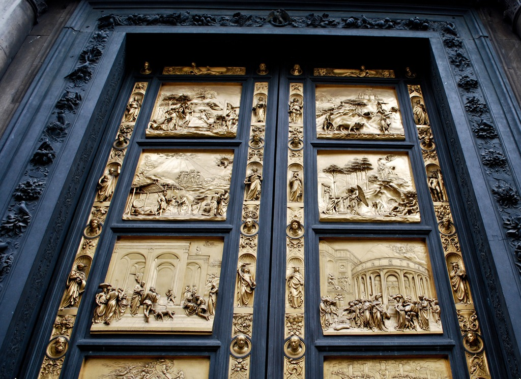 Gates of Heaven East doors of the Baptistery. Florence. Artist - Lorenzo Ghiberti & My Way Is The Highway: p:Florence Pezcame.Com