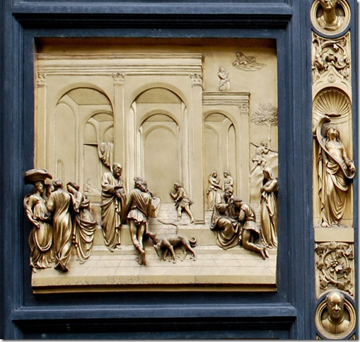 Lorenzo Ghiberti (Italian, 1378–1455). Jacob and Esau Panel, from Gates of Parardise