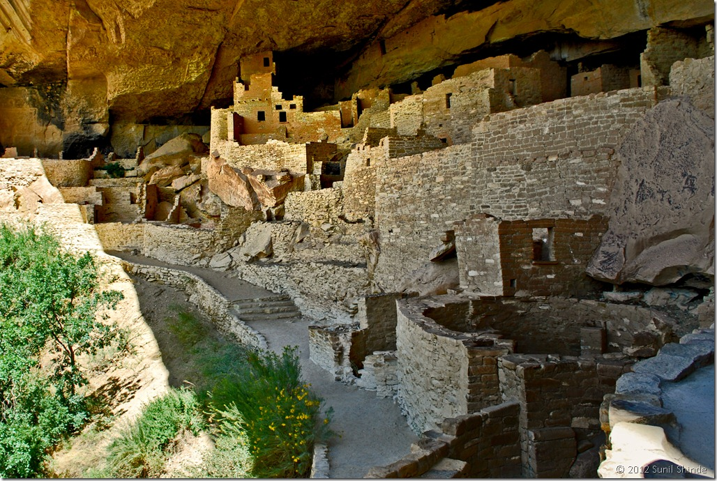 Anasazi ruins of Cliff Palace at Mesa Verde