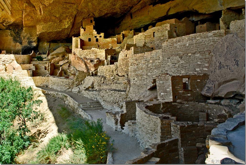 Anasazi ruins of Cliff Palace at Mesa Verde