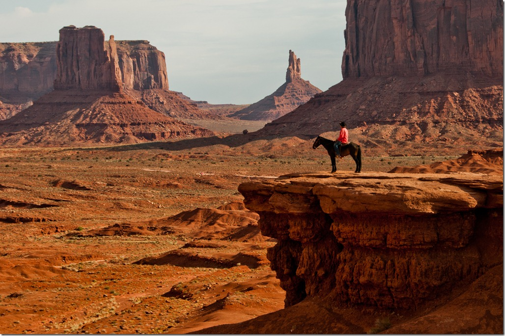 Cowboy at John Ford Point - Monument Valley Sunrise Photography Tour