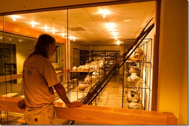 Vaughn Hadenfeldt at The Edge of the Cedar Mesa museum