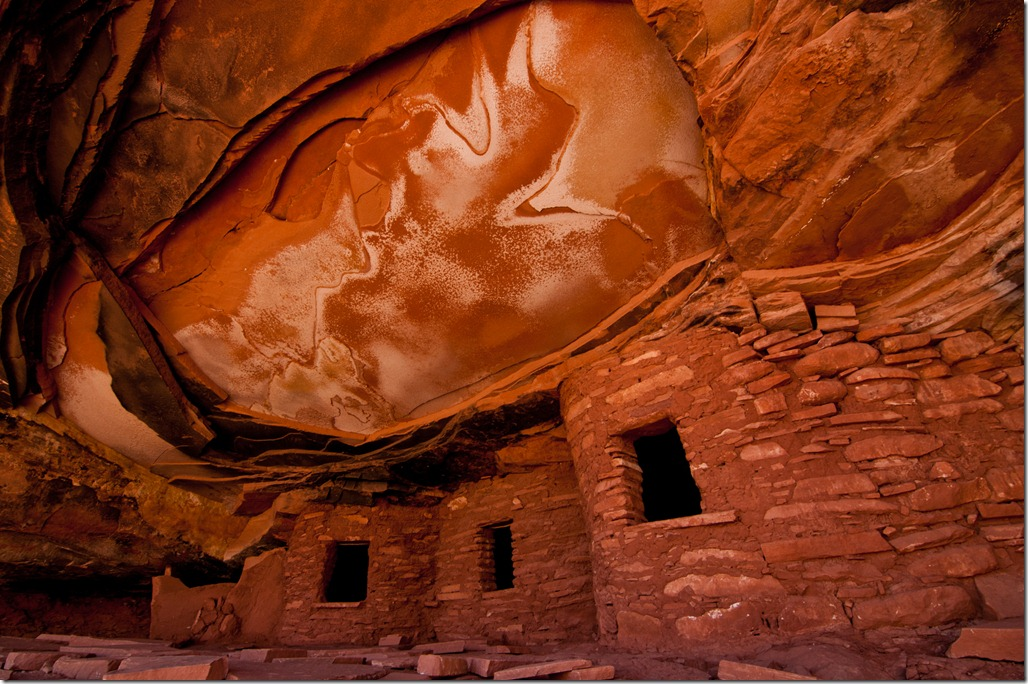 Ceiling Ruins at Cedar mesa, Utah (aka Fallen Rook Ruins) (72 dpi)