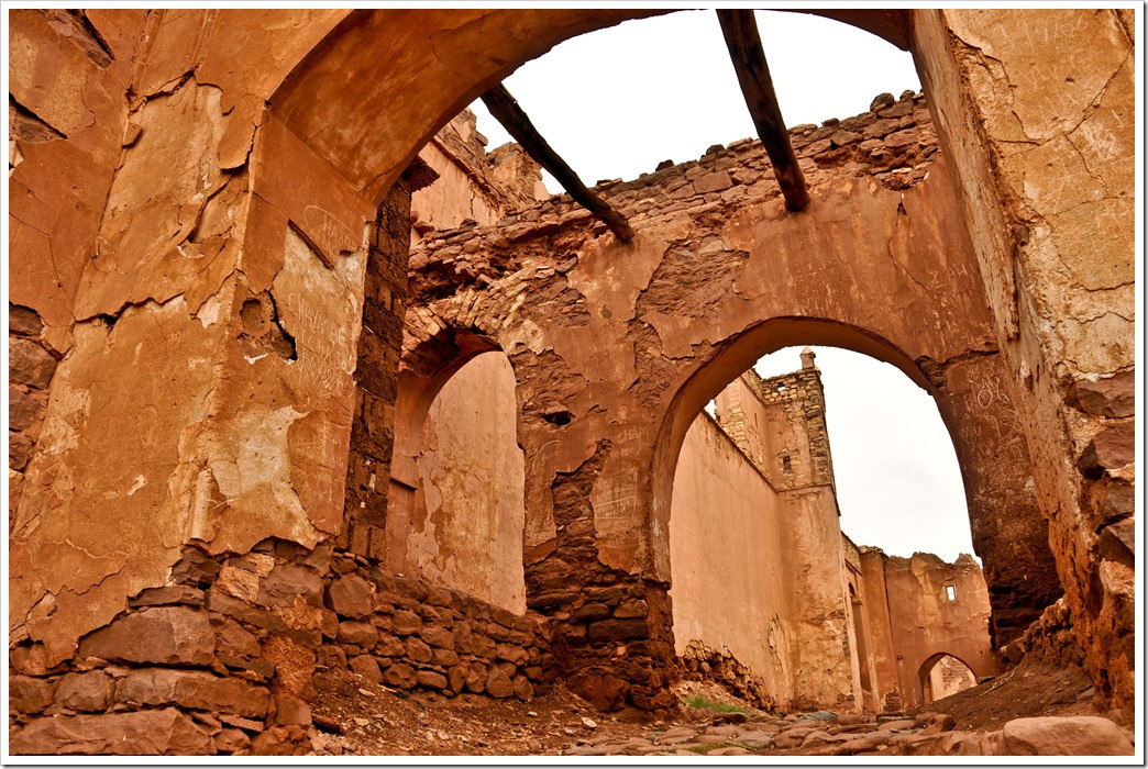 The entrace to the Telhouet Kasbah, Atlas Mountains, Morocco