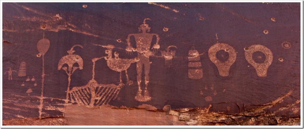 The Wolfman petroglyph, Bluff UTAH