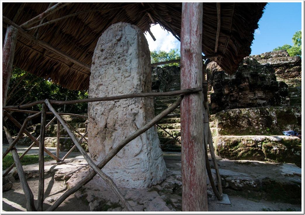 Stelae 20 at Structure E VII Sub @ Uaxactun, GUatemala