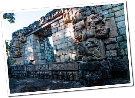 060 Mayan POrtal at Temple 22 Mayan Ruins at Copan Runas, Honduras