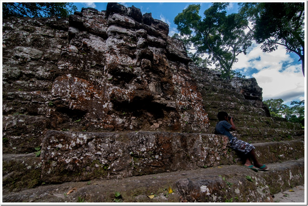 Jaguar Mask of Structure E VII B - The Astronomical observation PLatform, @ Uaxactun, GUatemala