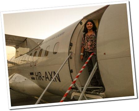 002 Rhea boarding the Guatemala City-Flores Flight