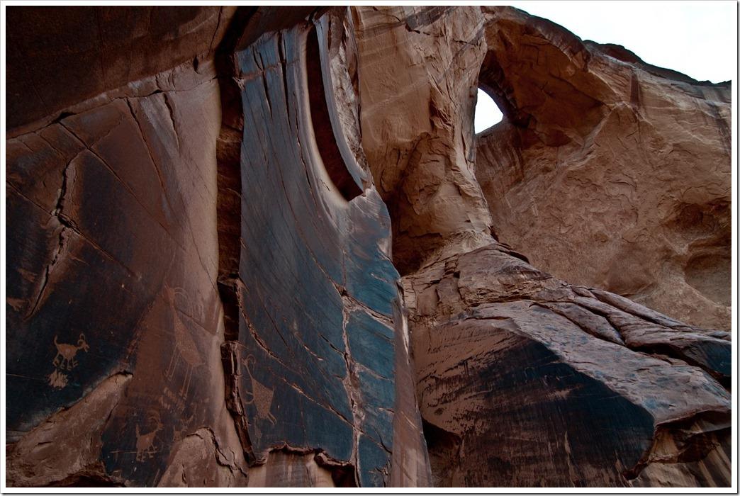 Anasazi Petroglyphs in Monument Valley