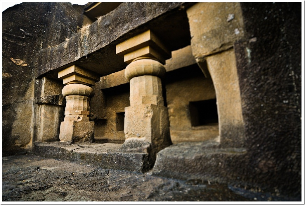 The unfinished Chaityagraha - Cave 1, Kanheri Caves Mumbai