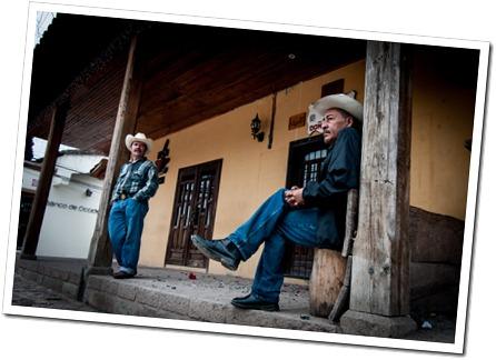 066 Residents of Copan on Christmas Morning, at Copan Runas, Honduras